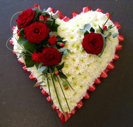 Based Red Rose Heart